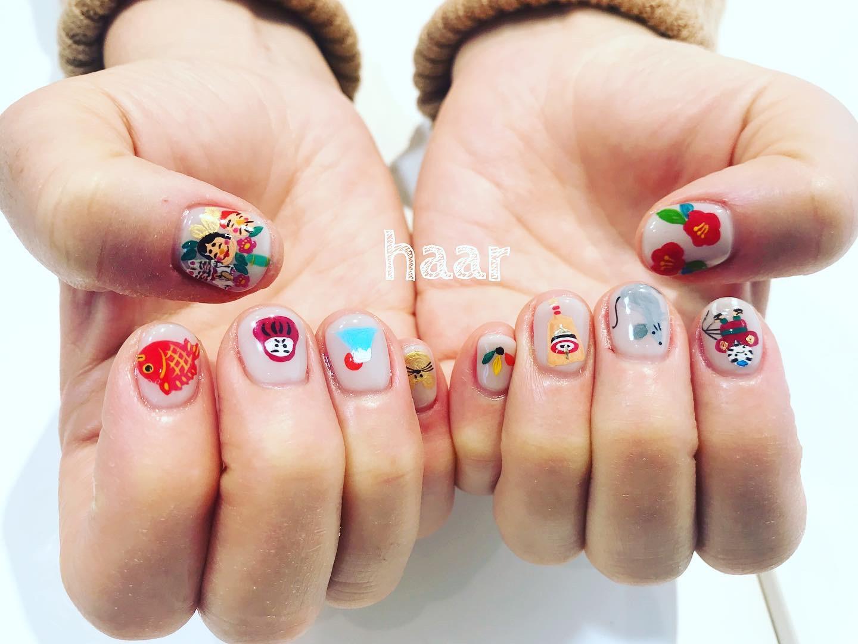 haar nail ❤︎ あけましておめでとうございます‼︎