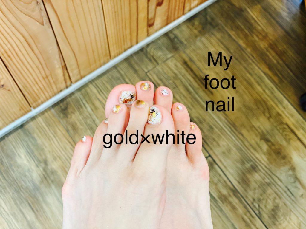 haar nail ♡〜My foot nail 〜